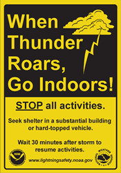 Lightning Safety Sign